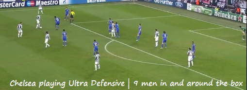 Chelsea Defensive and looking to Counter Attack