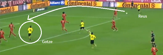 Götze unmarked Reus' cross