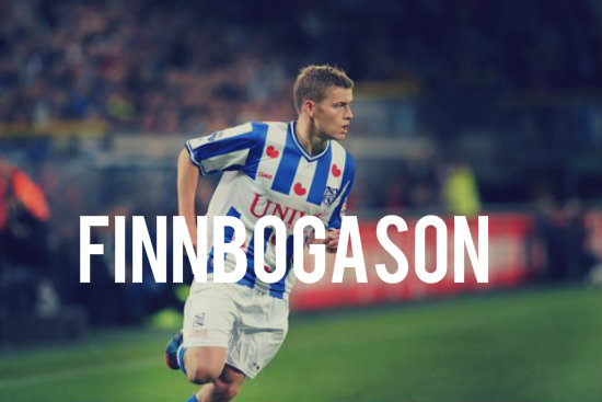 Finnbogason in action for Heerenveen