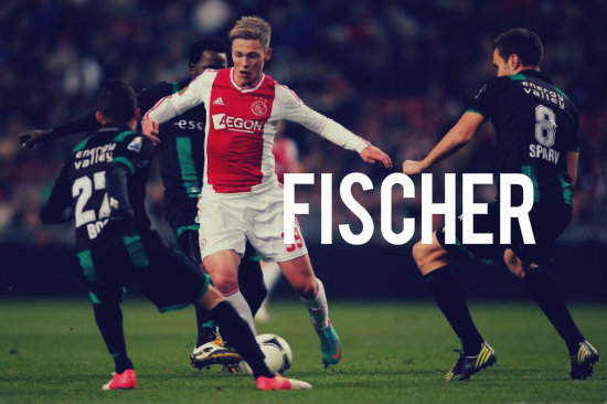 Fischer in action for Ajax