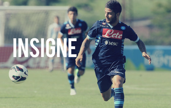 Insigne in action for Napoli