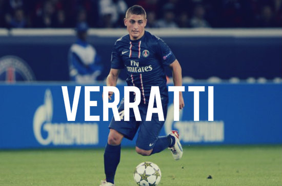 Verratti in action for PSG