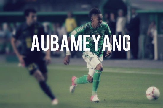Aubameyang playing for St.Etienne