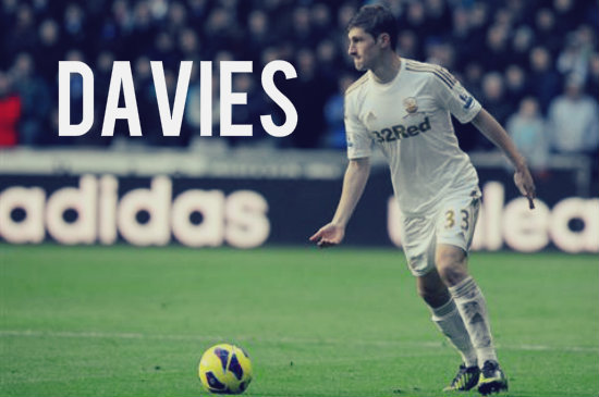 Ben Davies in action for Swansea