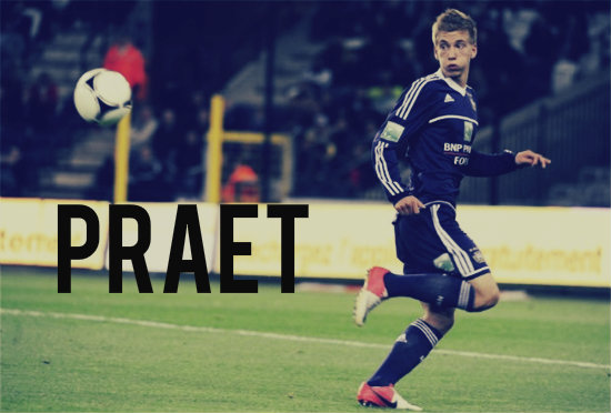 Praet in action for Anderlecht