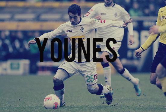 Younes in action for Gladbach