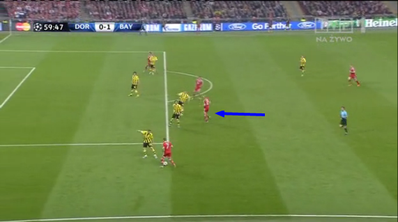 Robben's free role and running caused Dortmund a lot of headaches.