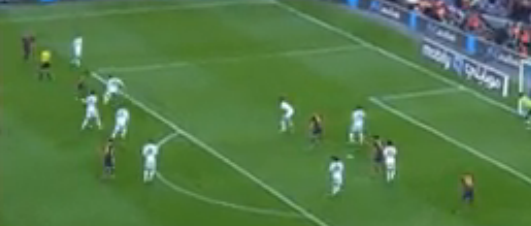 Real Madrid's deep defensive set up