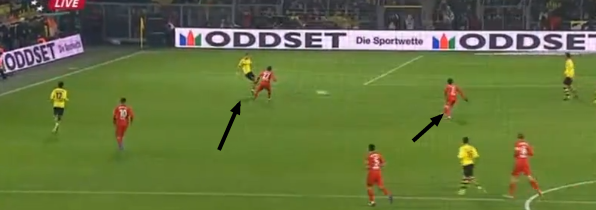 Leverkusen pressed the full backs, and were rewarded with a goal.