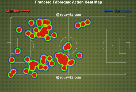 Cesc heat map. via squawka.com