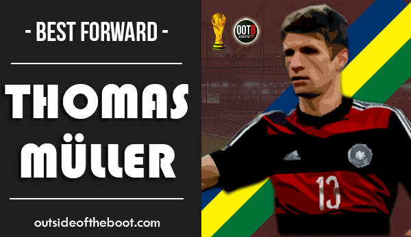World Cup Best Forward Thomas Muller