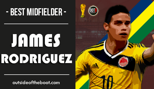 World Cup Best Midfielder James Rodriguez
