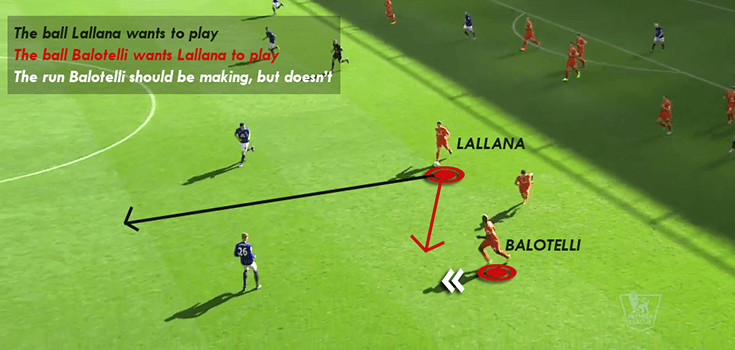 Balotelli Slow in transitions