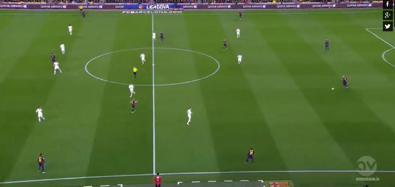 Barcelona's set-up when they were in possession