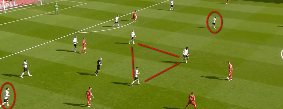 United also did well to maintain their midfield shape in situations where they didn't press