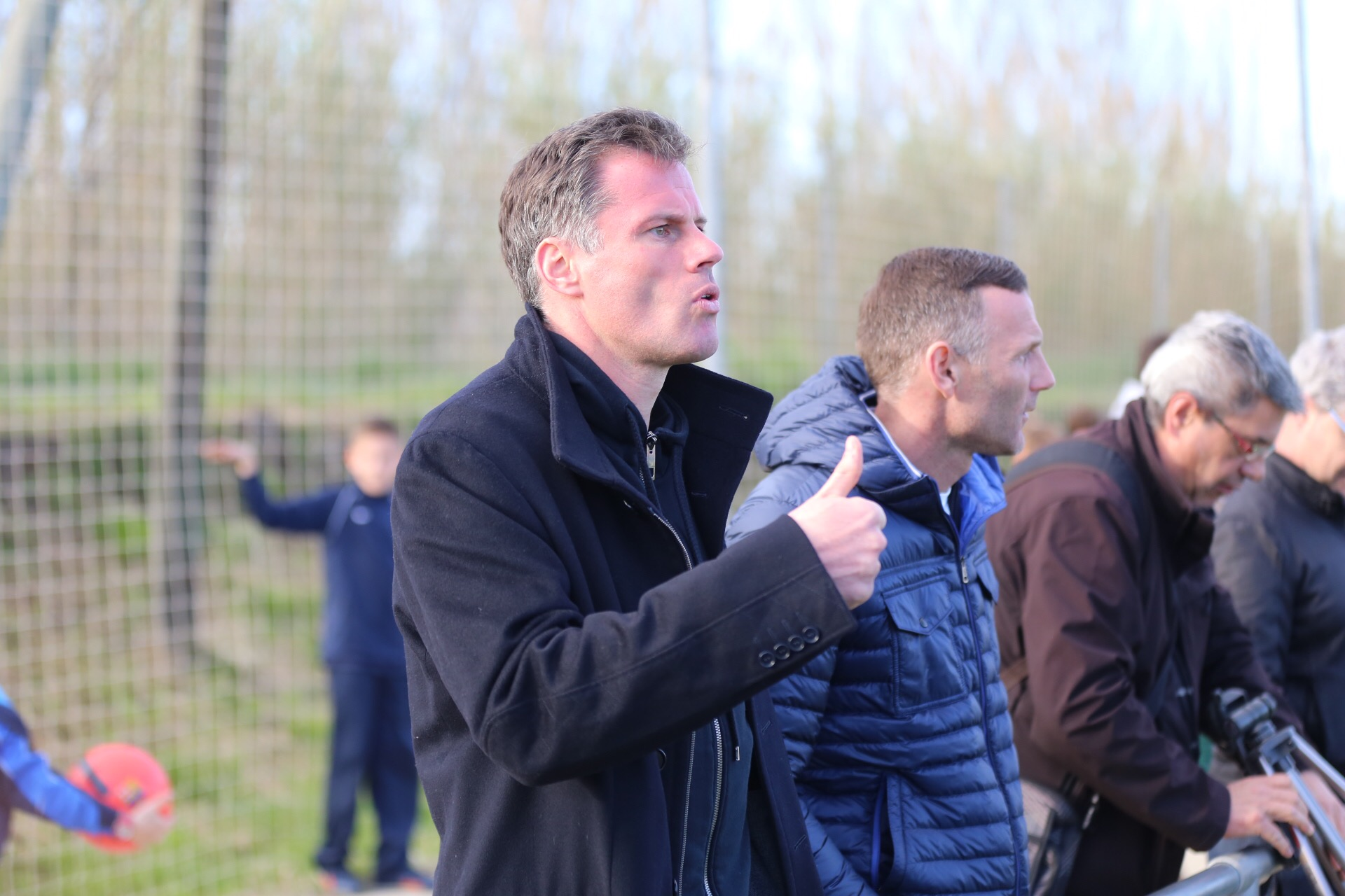 Liverpool legend Jamie Carragher at the MIC