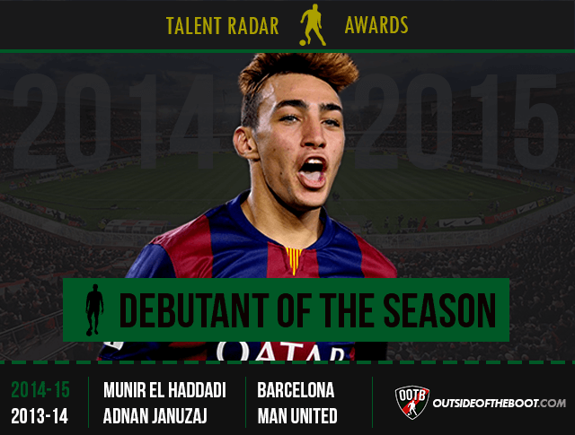 Talent Radar Debutant of the Season 2014-15