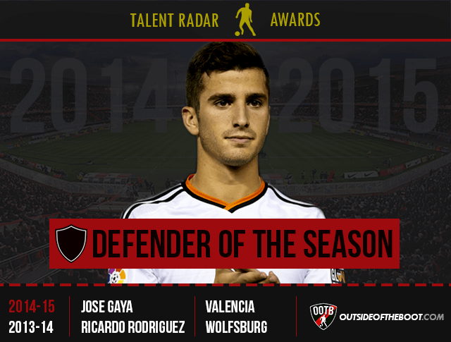 Talent Radar Defender of the Season 2014-15