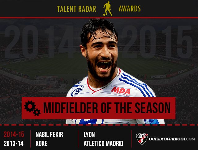 Talent Radar Midfielder of the Season 2014-15