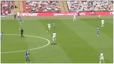 Leon Britton passes to Joe Allen