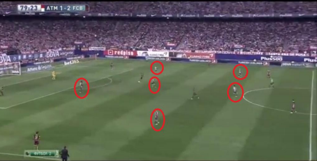 Players from Atletico committed forwards in hope of finding a late equaliser.