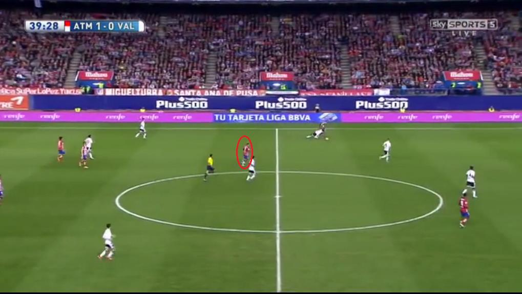 As the Belgian breezes past Perez down the left flank; notice Griezmann's starting position highlighted