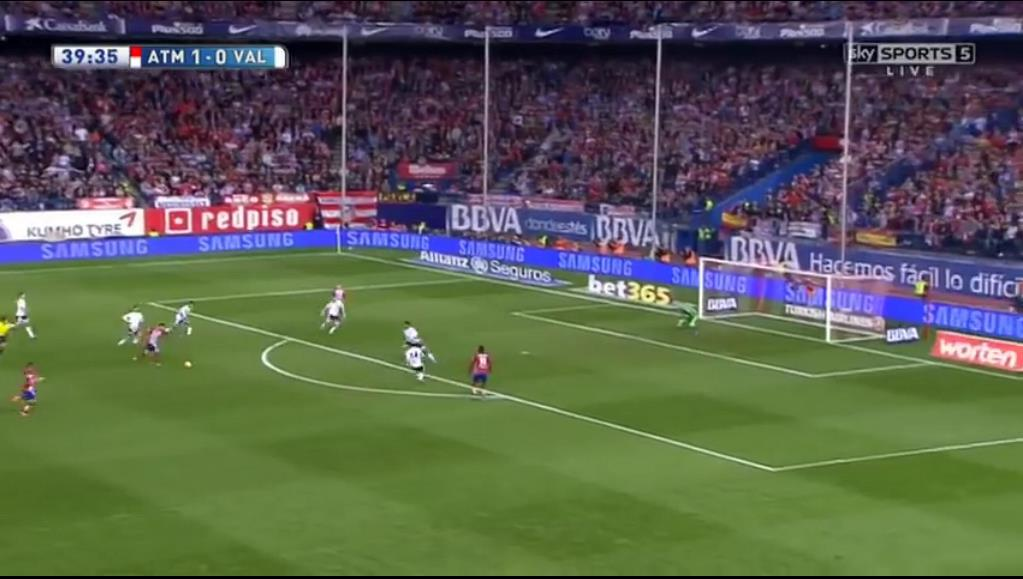 A stunning strike by the Belgian nestled into the bottom corner to double the lead for Atletico following a great spectacle of the pressing methods of their Argentine manager