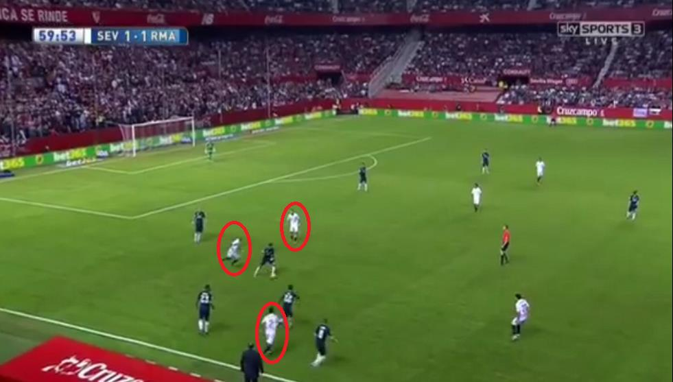 N'Zonzi leads the charge to win back possession as Sevilla's players quickly suffocate Casemiro