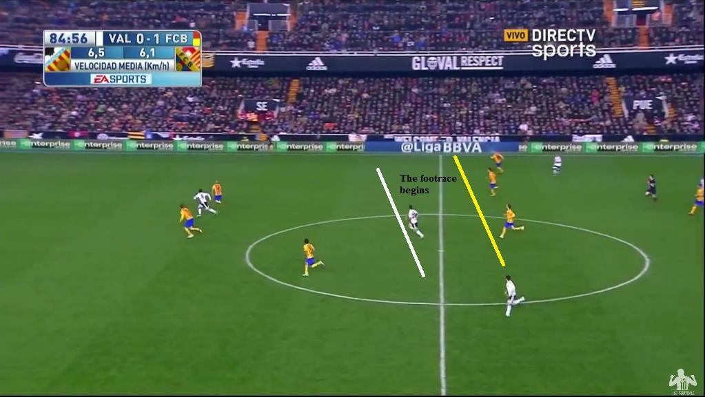 Footrace between Mina & Barca midfield