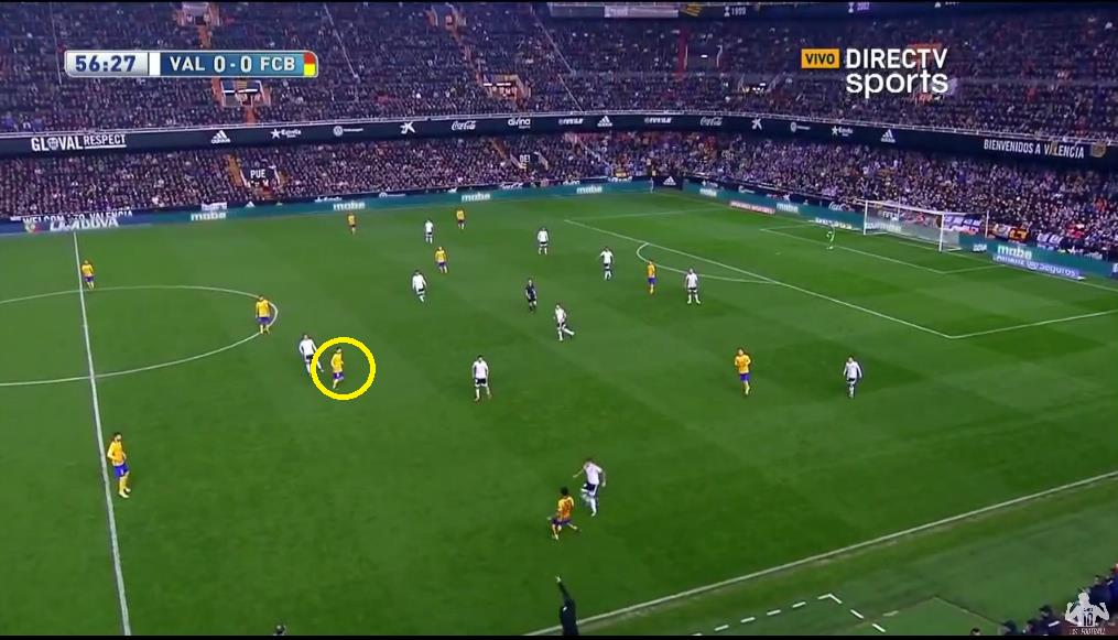Messi looked to collect ball from short passes as to start attacks from deeper areas