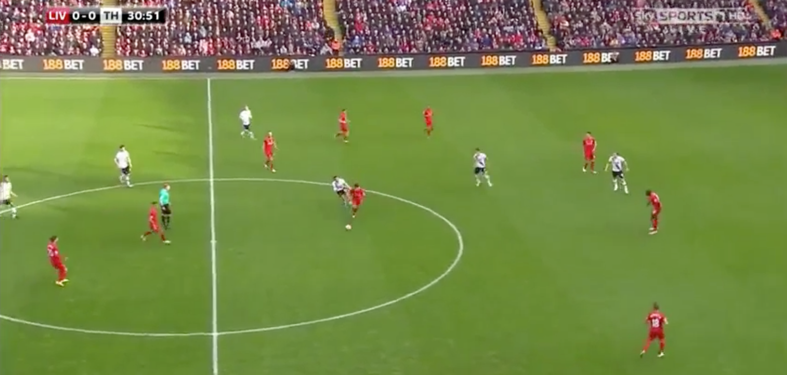 However, his first touch takes him into a bad area and his second is even worse, presenting the ball straight to Emre Can. Had his first touch been better, Son's run off the ball may have opened up space for him, but it was poor and so Can decided to press him, knowing that he would not be able to play the ball to Son.