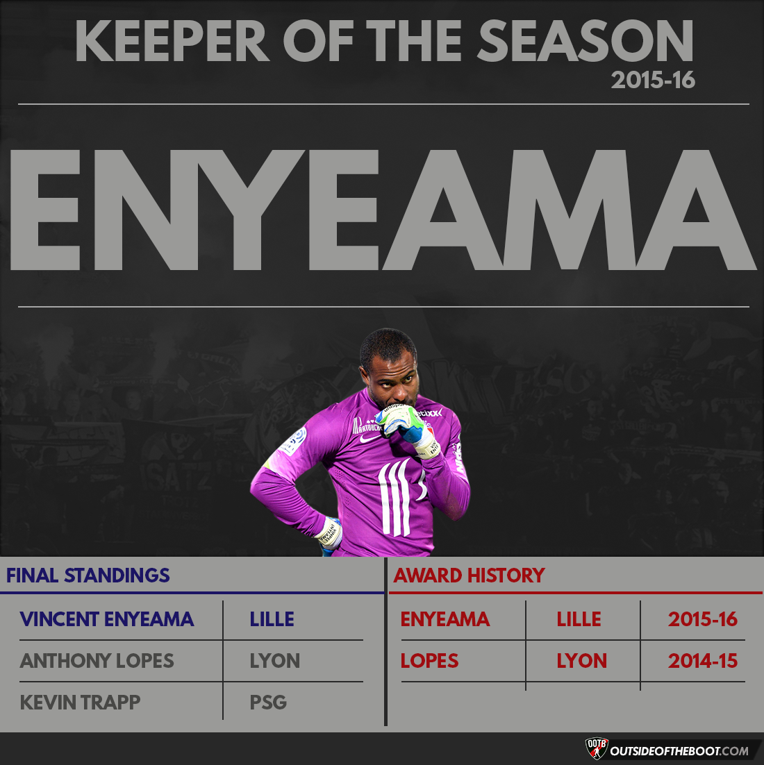 Ligue 1 Keeper of the Season 2015-16