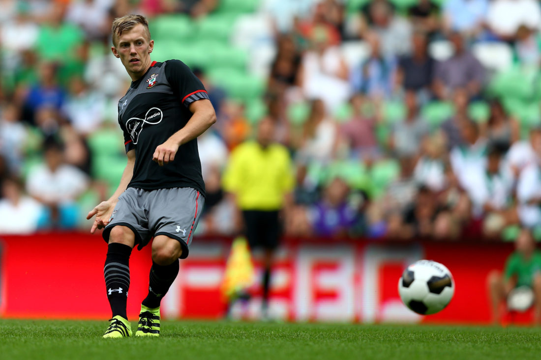 Having surpassed 100 games for the Saints, James Ward-Prowse is now expected to be a regular in the first team. CHRISTOF KOEPSEL / Getty Images