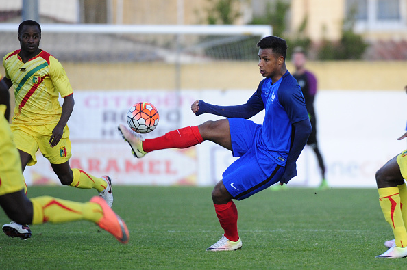 France's Lys Mousset controls the ball during the Under 21 international football match betwen France and Mali at the Perruc stadium in Hyeres, southern France on May 24, 2016, as part of the Toulon Hopefuls' Tournament. FRANCK PENNANT/AFP/Getty Images
