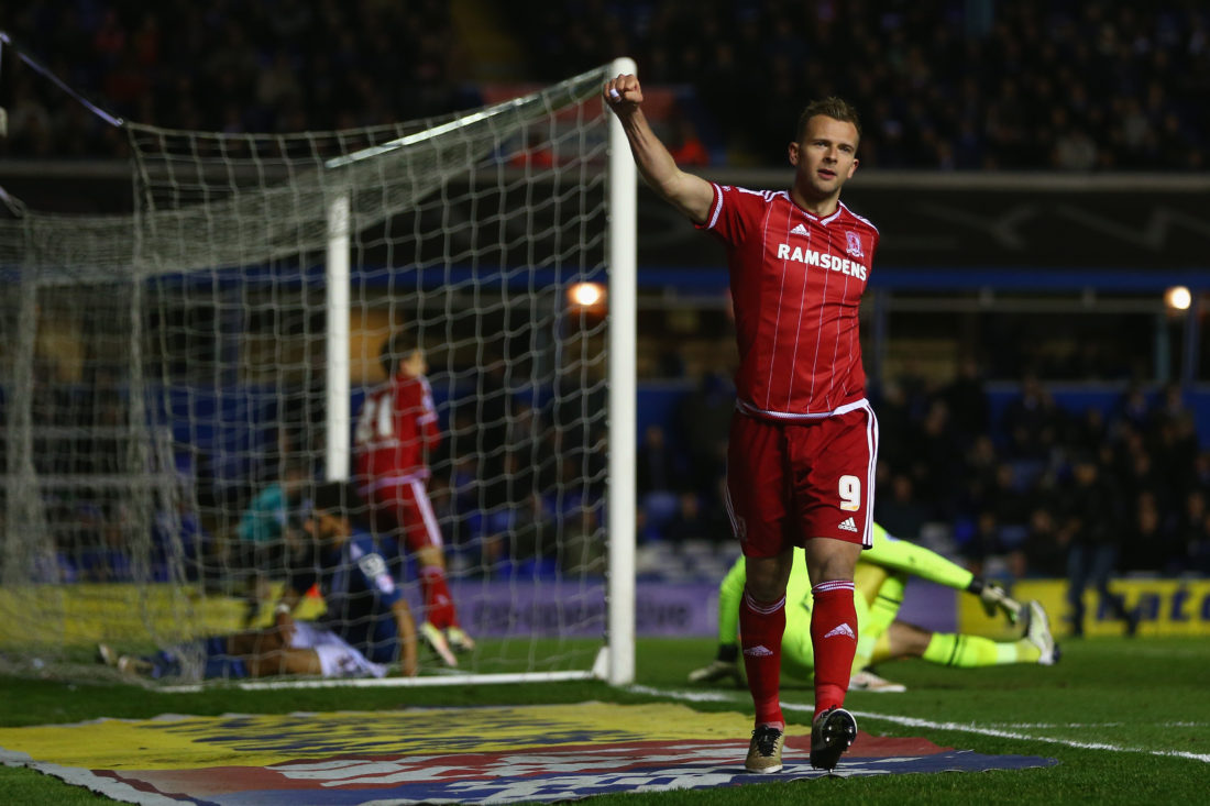 Jordan Rhodes has experienced success in the lower leagues, but now has to prove himself at the highest level in England. MICHAEL STEELE / Getty Images