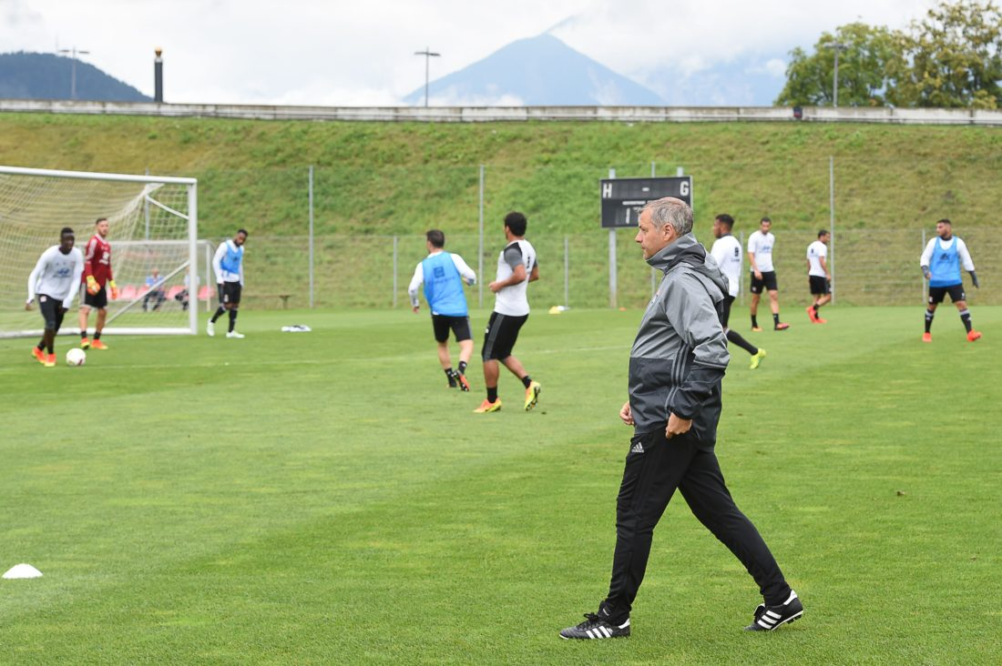 Bruno Genesio has played for Lyon's youth team and at first team level, climbing to the post of assistant manager before taking up the managerial role in 2015. BORIS HORVAT / AFP / Getty Images