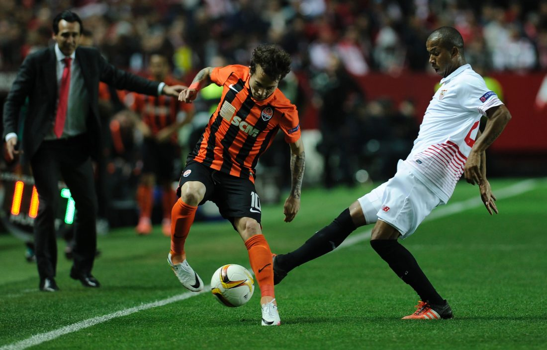 Bernard joined the Ukranian club in 2013 after impressing with Atletico Mineiro. CRISTINA QUICLER / AFP / Getty Images