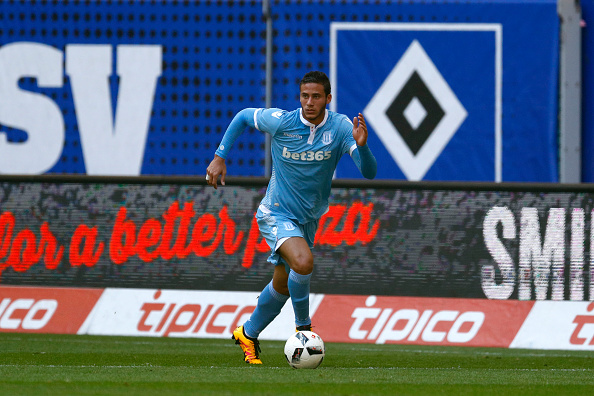 HAMBURG, GERMANY - AUGUST 06: Ramadan Sobhi of Stoke City during the pre-season friendly match between Hamburger SV and Stoke City at Volksparkstadion on August 6, 2016 in Hamburg, Germany. (Photo by Joachim Sielski/Getty Images)