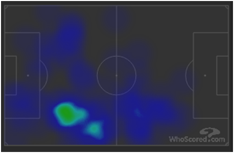 David Silva heatmap via WhoScored