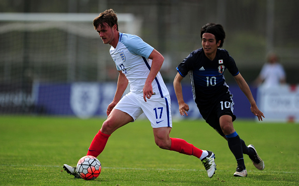 TOULON, FRANCE - MAY 27: John Swift of England is tackled by Shinya Yajima of Japan during the Toulon Tournament match between Japan and England at the Stade Leo Lagrange on May 27, 2016 in Toulon, France. (Photo by Harry Trump/Getty Images)