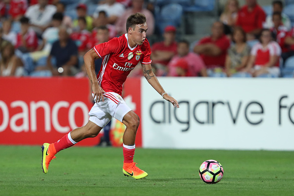 FARO, PORTUGAL - JULY 14: Benfica's midfielder Andre Horta during the Pre Season match between SL Benfica and Vitoria Setubal at Estadio do Algarve on July 14, 2016 in Faro, Portugal. (Photo by Carlos Rodrigues/Getty Images)