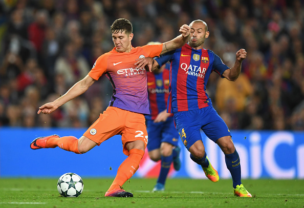 during the UEFA Champions League group C match between FC Barcelona and Manchester City FC at Camp Nou on October 19, 2016 in Barcelona, Spain.