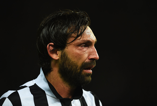 Pirlo revitalised his career from a deeper position. (Photo by Laurence Griffiths/Getty Images)