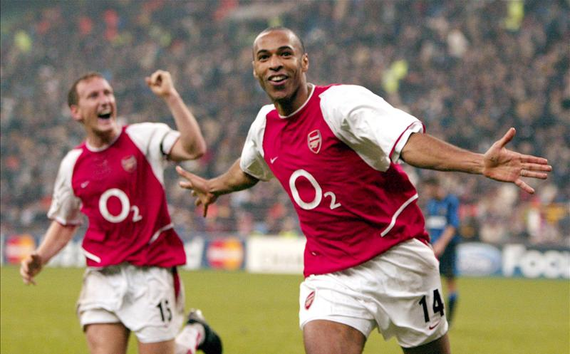 Thierry Henry and Arsenal pulled a 5-1 result out of nowhere against Inter that propelled them to the knockout stage of the 2003/04 Champions League (Source: Squawka.com)