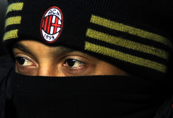 AC Milan's Brazilian forward Ronaldinho watches from the substitutes' bench during his team's Serie A match against Brescia on December 4, 2010 in the San Siro stadium in Milan. AC Milan won 3-0. AFP PHOTO / OLIVIER MORIN (Photo credit should read OLIVIER MORIN/AFP/Getty Images)